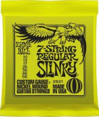 Гитарные струны Ernie Ball 7-String Regular Slinky, electric guitar strings, 10-56