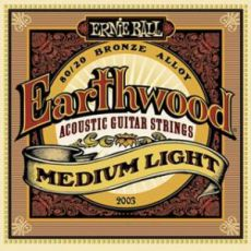Гитарные струны Ernie Ball EB-2003 Earthwood Medium-Light acoustic guitar strings