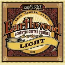 Гитарные струны Ernie Ball EB-2004 Earthwood Light acoustic guitar strings