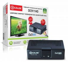 Ресивер DVB-T2 D-COLOR DC911HD ECO - черный